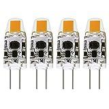 Albrillo G4 LED Bulb Dimmable 1.5W, 20 Watt Halogen Bulbs Equivalent, AC DC 12V, Warm White, 4 Pack