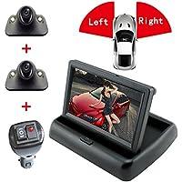 4.3 LCD Rear View Monitor Front /Forward looking Camera Blindspot Cameras Vehicle Camera For Car (4.3 LCD +Left Camera+Right Camera)