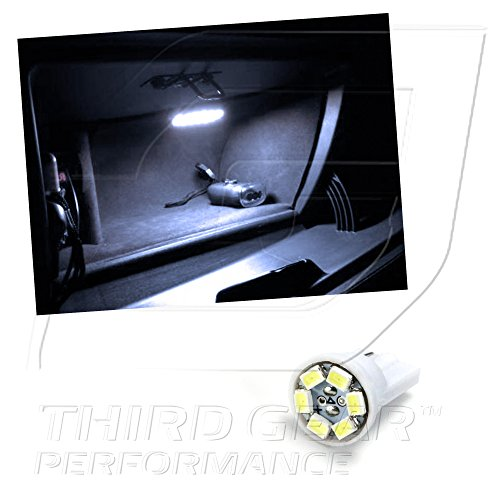 TGP T10 White 6 LED SMD Glove Box Wedge Light Bulb Single 2001-2011 Ford F-250 - F550 All