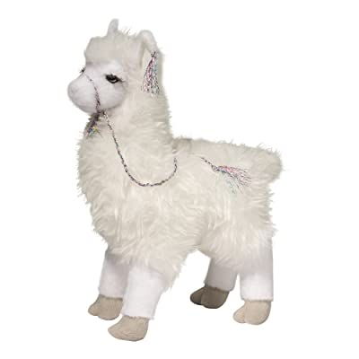 Douglas Evelyn Llama Plush Stuffed Animal: Toys & Games