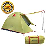 WEANAS Waterproof Double Layer 2, 3, 4 Person 3 Season Aluminum Rod Double Skylight Outdoor Camping Tent