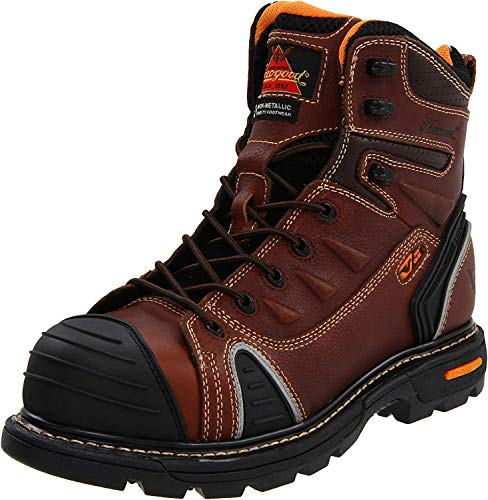 Thorogood Composite Safety Toe Gen Flex 804-4445 6-Inch Work Boot, Brown, 10.5 W US