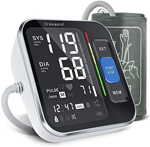"""Blood Pressure Machines For Home Use – Blood Pressure Monitor For Upper Arm Blood Pressure Cuff 8.7""""-15.7"""", Backlight Display & Human Resources Detection, with Carrying Case for Adult & Pregnancy"""