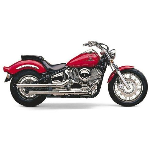 Cobra Boulevard 2 Inch Drag Pipe Slip-On Mufflers for Yamaha Cruisers - Yamaha XVS1100 V Star 1100 Custom 1999-2003