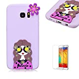 For Samsung Galaxy S7 Case.Funyye Cute 3D Candy Colorful Series Design Soft Silicone Back Case Cover for Samsung Galaxy S7-Pretty Girl