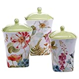 Certified International Table Top - Rainbow Seeds 3 Piece Canister Set
