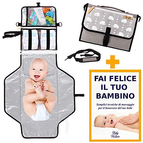 Fasciatoio Portatile Pieghevole - BABYTREASURE - Tracolla e Volume