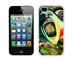 Popular And Durable Custom Designed Case For iPhone 4S With Pink Floyd White Phone Case