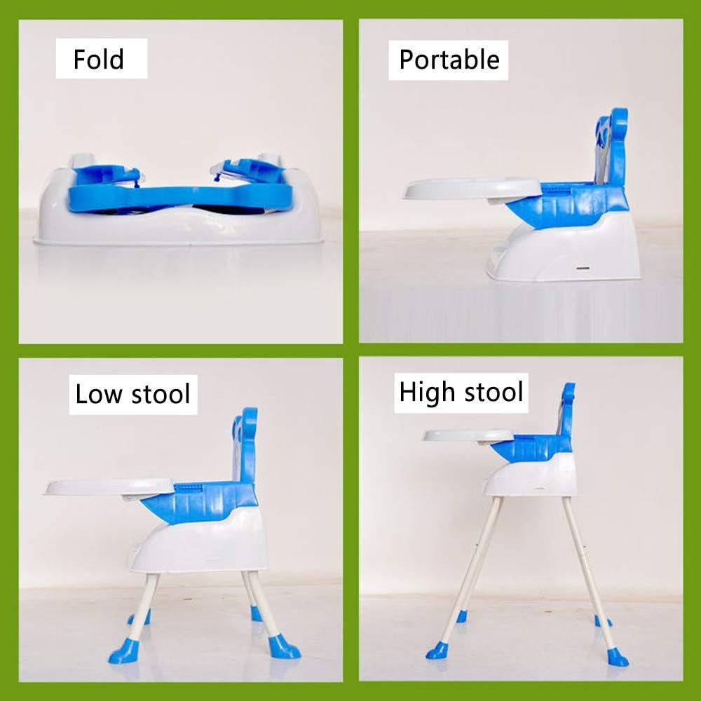 QIANGUANG Trona Modernas sillas altas para sillas de beb/é 4 en 1 con bandeja Cintur/ón de seguridad de alimentaci/ón Asiento ajustable de altura alta azul Pink