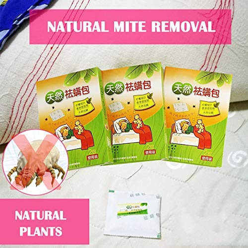 Mcottage 2 Piezas//Caja de Forma Natural Acarid Removedor /Ácaros Exterminador Pack para Dom/éstico Con