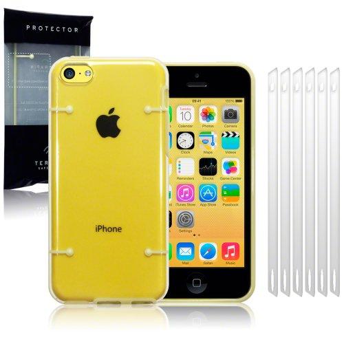 iPhone 5C Gelb Circuit Board Schutzhülle/Cover/Shell/Shield + 6-in-1Displayschutzfolie Pack