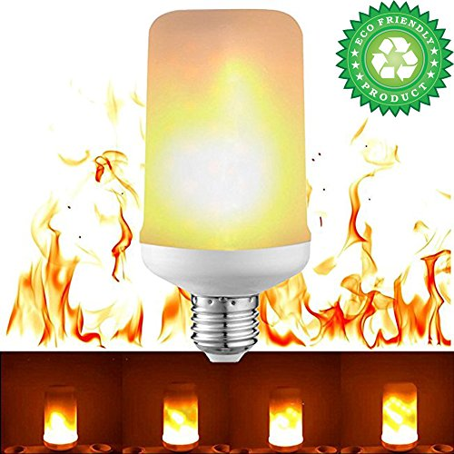 LED Flame Effect Fire Light Bulbs, E26/E27 Creative with Flickering Emulation Lamps,Simulated Nature Fire in Antique Lantern Atmosphere for Holiday Hotel/ Bars/ Home Decoration Restaurants-New 10 Pack by SunRise