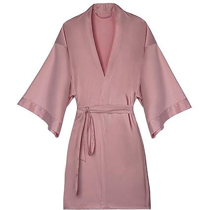 ShenZuYangShop Pijamas Ropa de casa Camisones Batas de baño de Primavera y Verano Pijamas de Seda