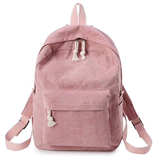 Bags Black Dabixx Fashion Girls School Pink Women Students Backpack Corduroy Rucksack BpBqwO8fHx