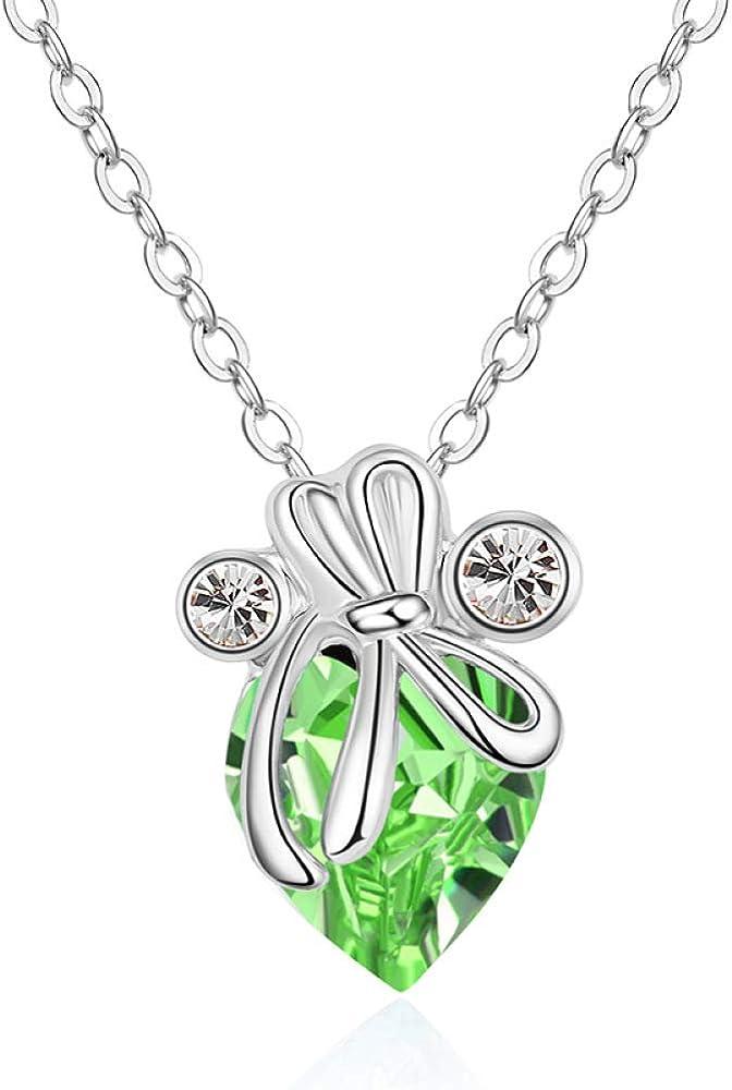 MILKSMELL Collar de Cristal Collar de Jade con Mosca de Cristal de Alta Gama Coreano Collar de señoras de Moda Coreana