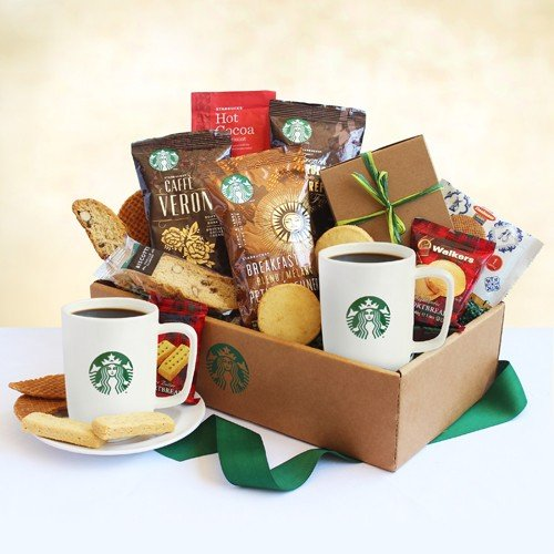 Classic Starbucks Care Package for College Students (College Student Gift Basket Ideas)