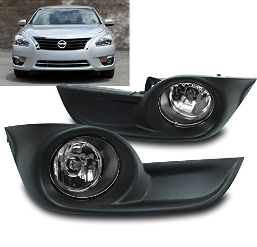 ZMAUTOPARTS Bumper Driving Chrome Fog Lights Lamps W/Cover+Switch For 15 Altima Sedan 4Dr
