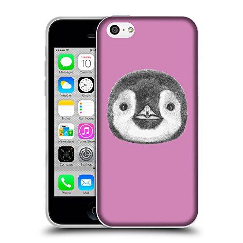 GoGoMobile Coque de Protection TPU Silicone Case pour // Q05310618 Visage pingouin Bronze // Apple iPhone 5C