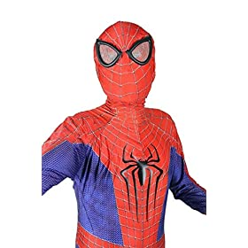 - 51Eb7K7sChL - OEM Spider Man Costume Screen Accurate Dye Sublimation Spiderman Faceshell Lens