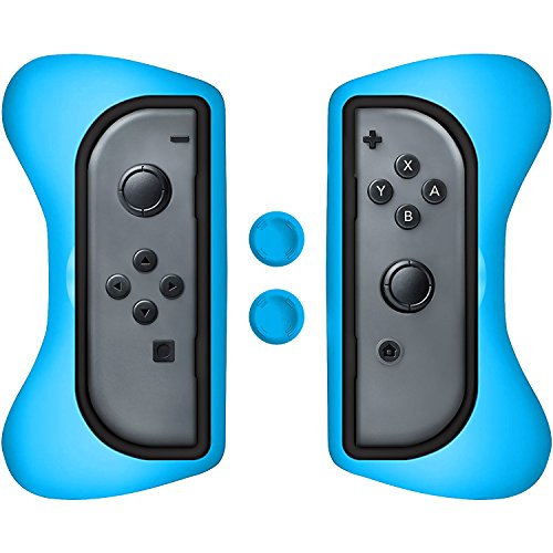 Hand Nit Kit - Surge Grip Kit, Joy-Con & Thumb Grips - Blue - Nintendo Switch