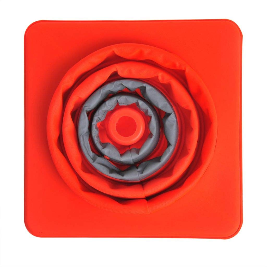 Festnight Conos de Tr/áfico Plegable Cono de Seguridad Retr/áctil con 2 Leds//3 Funciones 41cm de Alto