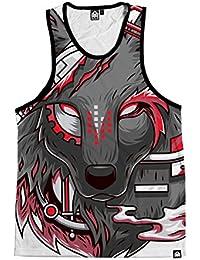Digital Wolf Men's All Over Print Sleeveless Tank Top Shirt