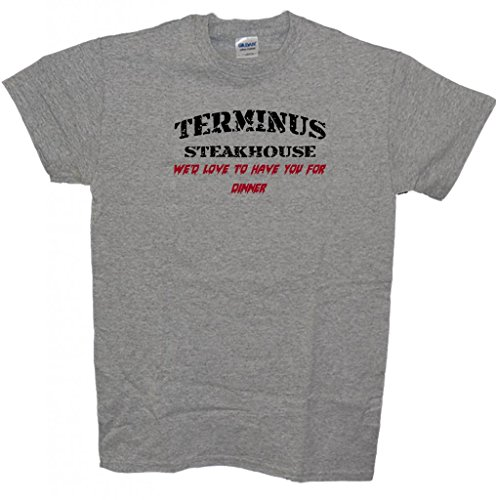 T's by the Sea Terminus Steakhouse T-Shirt Large Sport Grey