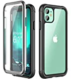 SPIDERCASE iPhone 11 Case, Built-in Screen Protector Clear Full Body Heavy Duty Protection Shockproof Anti-Scratched Rugged Cases for iPhone 11 6.1 inch 2019