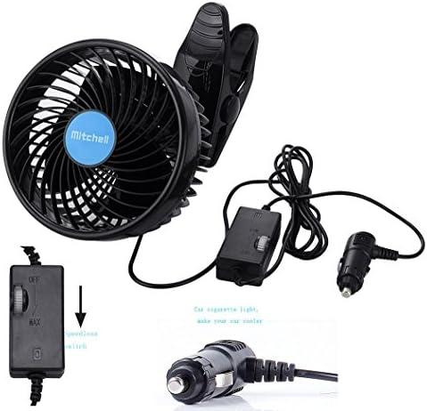 Intsun Ventilador Coche Doble 12 V 6 Inch Eléctrico Coche Clip ...