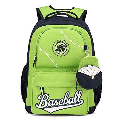 MATMO American Baseball Caps School Bags Children Student Backpack Green