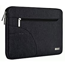 Mosiso 2017 / 2016 MacBook Pro 13 Inch Sleeve (A1706 / A1708) / Microsoft New Surface Pro 2017 / Surface Pro 4 / 3 Polyester Fabric Laptop Carrying Case Cover Protective Bag, Black