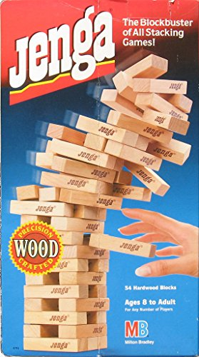 Jenga - The Blockbuster of All Stacking Games (1995) by Milton Bradley