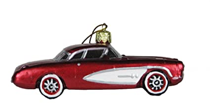 Amazon.com: Kurt Adler Glass Corvette, Christmas Ornament: Home ...