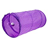 callm Cat Tunnel Pet Cat Play Tunnel Funny Cat Long Tunnel Kitten Play Toy (Purple)