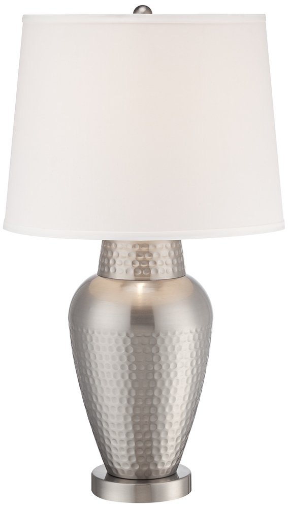 Rupert brushed steel hammered metal table lamp amazon mozeypictures Choice Image