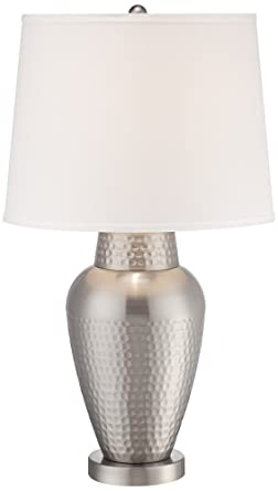 Rupert Brushed Nickel Hammered Metal Table Lamp Amazon Com
