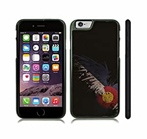 iStar Cases? iPhone 6 Case with Colorado Flag Design , Snap-on Cover, Hard Carrying Case (Black)