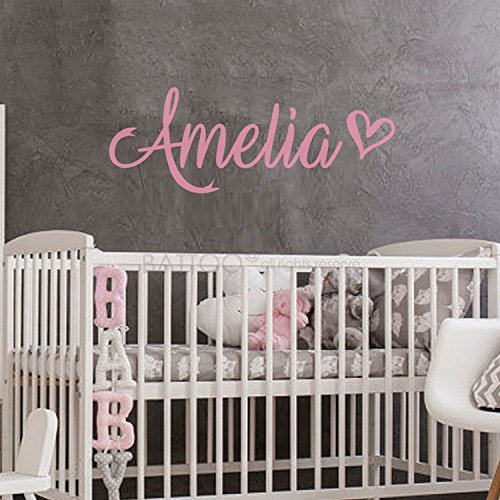BATTOO Fancy Personalized Custom Name Vinyl Wall Art Decal Sticker 16