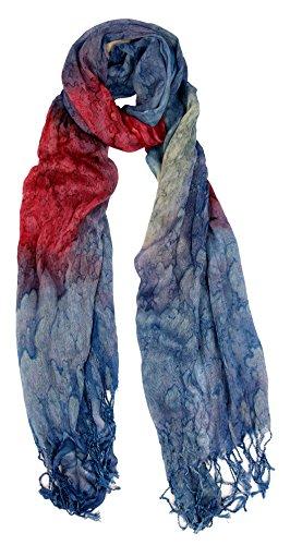 Love Lakeside-Women's Watercolor Crinkle Scarf