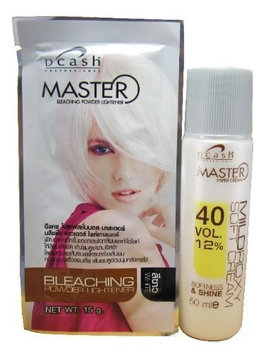 Dcash Master Hair Bleaching Kit (lightening power 15 g. + developer 50 ml.) WHITE color