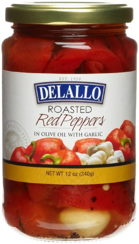 (DeLallo Roasted Red Peppers w/Garlic, 12-Ounce Jars (Pack of 12))
