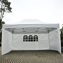 10' x 15' Pop Up Party Tent Gazebo Marquee Canopy w/ 3 Sidewalls Waterproof
