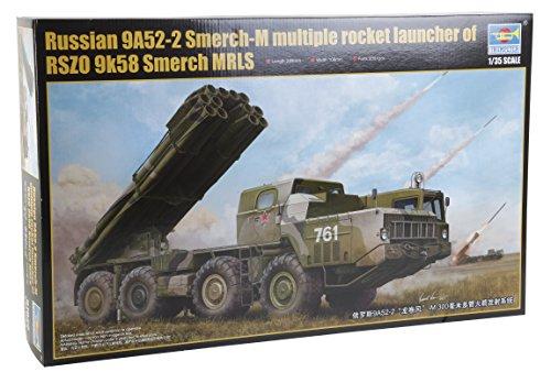 - 1/35 Russian 9A52-2 Smerch-M Multiple Rocket Launcher of RSZ0 9k58 Smerch MRLS