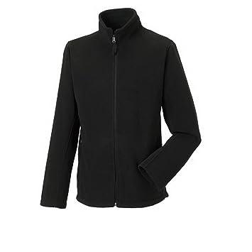 Outdoor chaqueta Forro Polar con cremallera de Russell Europe XXL, Negro