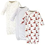 Touched by Nature Baby Organic Cotton Kimono Gowns, Boho Fox, Preemie