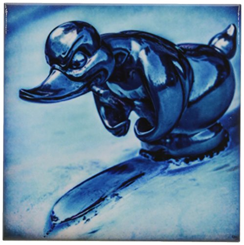 3dRose CST_123844_3 Duck Hood Ornament Vintage Ceramic Tile Coasters, Set of ()