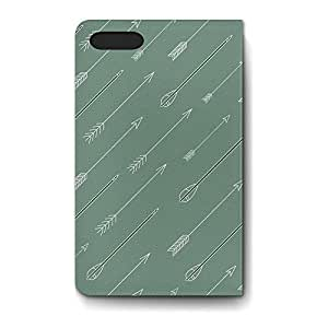 Leather Folio Phone Case For Apple iPhone 5 Leather Folio - Hispter Tribal Arrows Back Lightweight
