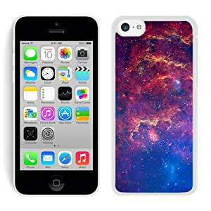 Fantasy Shiny Nebula Outer Space White iPhone 5c Screen Cover Case Unique and Fashion Design