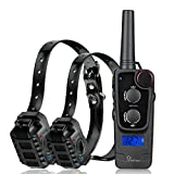 PetFere IP67 Waterproof Dog Training Collar – Anti Barking Shock Collar for Dogs Has a Long Lasting Rechargeable Battery – Great Dog Training Collar with Multiple Modes and Long Receiving Range