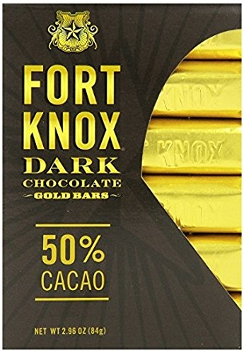(Fort Knox Mini Dark Chocolate Gold Bars, 50% Cacao, 2.96 oz (Pack of 12) )